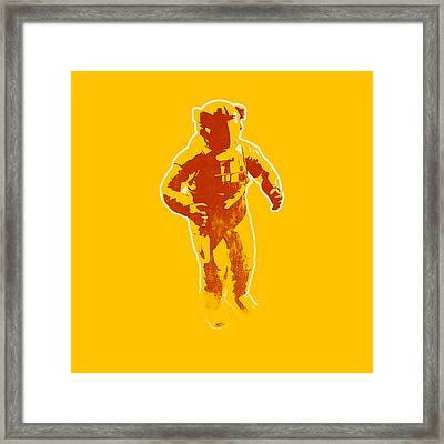 Astronaut Graphic Framed Print by Pixel Chimp