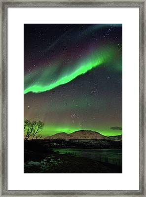 Aurora Borealis Framed Print by John Hemmingsen