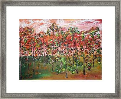 Autumn Begins Framed Print by James Bryron Love