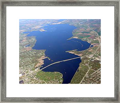 Framed Print featuring the photograph B-016 Butte Des Morts Lake Oshkosh Wisconsin by Bill Lang