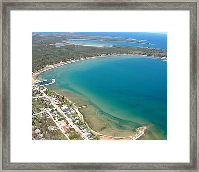 Framed Print featuring the photograph B-018 Baileys Harbor Door County Wisconsin by Bill Lang