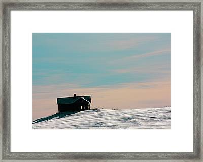 Baby Blue Framed Print by Empty Wall
