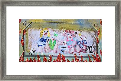 Framed Print featuring the painting Bad Bears by Lisa Piper