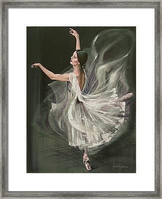 Baile Blanca Framed Print by Joan Garcia