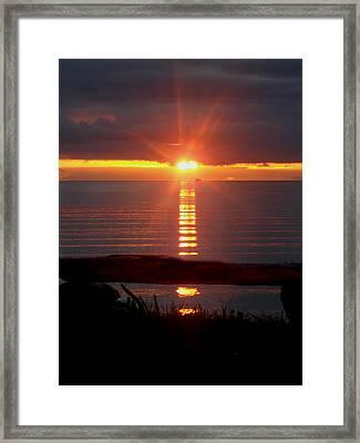 Baptism Sunrise Framed Print by Barbara Stirrup