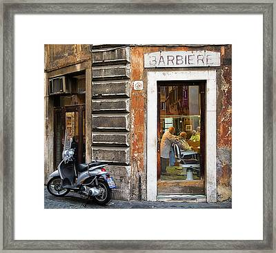 Barbiere Framed Print