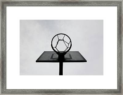 Basketball Hoop Framed Print by Christoph Hetzmannseder