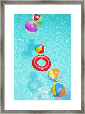 Beachballs Framed Print by Alex Bramwell