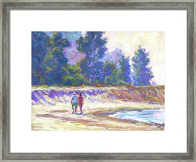 Beachcombing Framed Print by Michael Camp