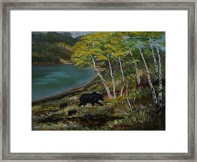 Bear Country Framed Print by Leslie Allen