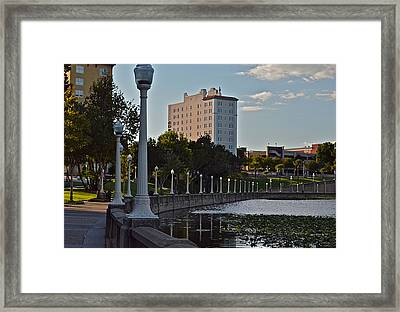 Beautiful Downtown Lakeland Framed Print