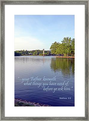 Before You Ask Framed Print