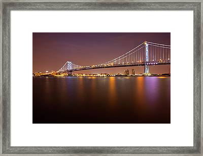 Ben Franklin Bridge Framed Print by Richard Williams Photography