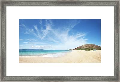Big Beach Framed Print by Monica and Michael Sweet