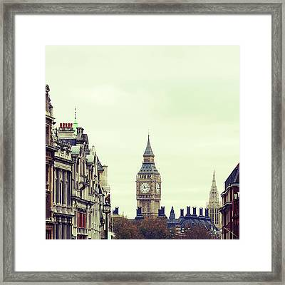 Big Ben As Seen From Trafalgar Square, London Framed Print