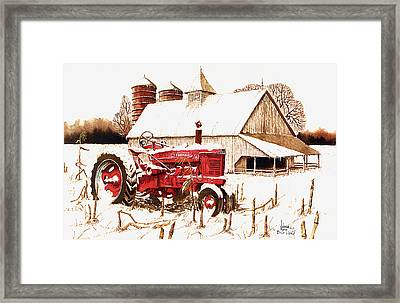 Big Red Framed Print by Larry Johnson