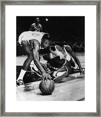 Bill Russell (1934- ) Framed Print by Granger