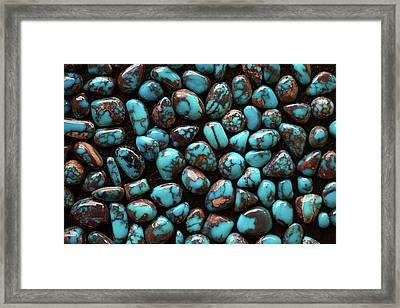Bisbee Turquoise Framed Print by Sergio Salvador