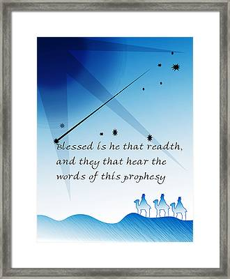 Blessed Is He Framed Print by Amy Williams