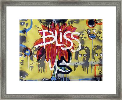 Bliss Is The Word Framed Print by Robert Wolverton Jr