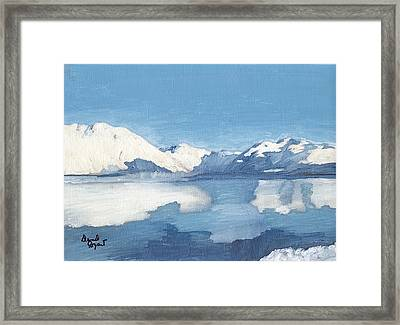 Blue Alaska Framed Print by David Poyant