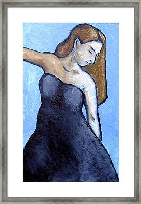 Blue And Black Framed Print