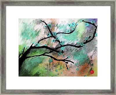 Blue Blossom Framed Print by Andrea Realpe