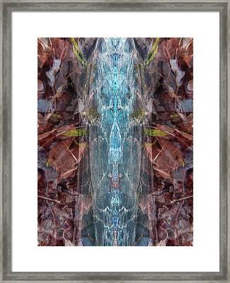 Blue Cocoon Framed Print by Lynzi Wildheart