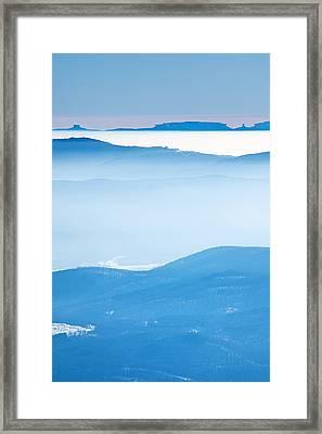 Blue Haze Framed Print by Evgeni Dinev