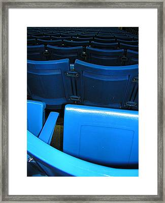 Blue Jay Seats Framed Print by Heather Weikel