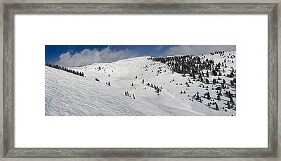 Blue Sky Basin Panorama - Vail Colorado Framed Print by Brendan Reals