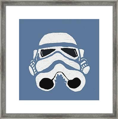 Blue Trooper Framed Print