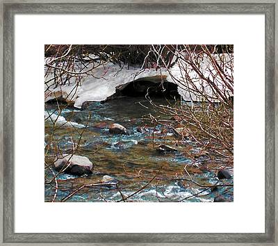 Framed Print featuring the photograph Blue Water Creek by Tammy Sutherland
