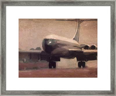Boac Vc10 Landing 5 Framed Print