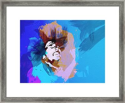 Bob Marley 3 Framed Print by Naxart Studio