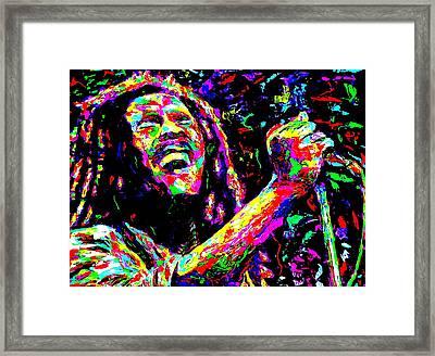 Bob Marley Framed Print by Mike OBrien