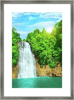 Bobla Waterfall Framed Print