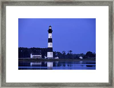 Bodie Island Lighthouse At Dusk - Fs000607 Framed Print by Daniel Dempster