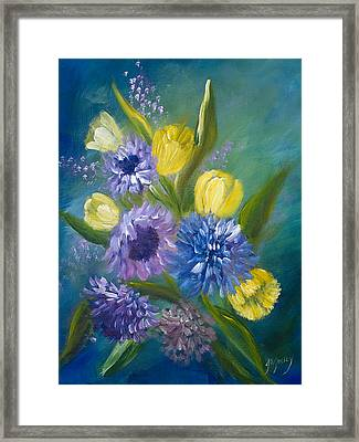Bonnie Bouquet Framed Print by Joanne Smoley
