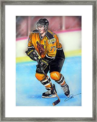 Boston Bruins Ray Bourque Framed Print by Dave Olsen