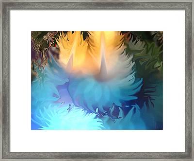 Botanical Trip Framed Print by Lynzi Wildheart