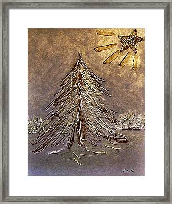 Bright Star For Light Framed Print by Marsha Heiken