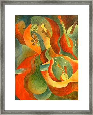 Broken Fiddle Study Framed Print