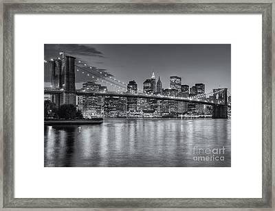 Brooklyn Bridge Twilight II Framed Print