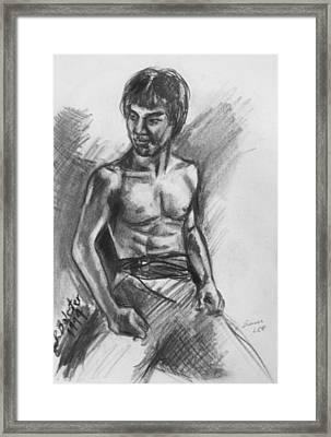 Bruce Lee Framed Print by Jamey Balester