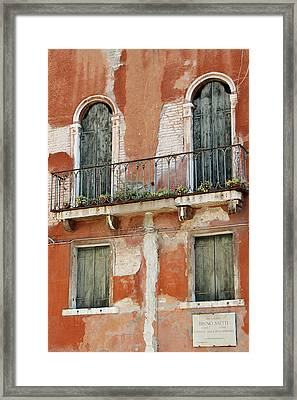 Bruno Saetti Worked Here Framed Print by Vicki Hone Smith