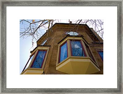 Building Looking Up Framed Print