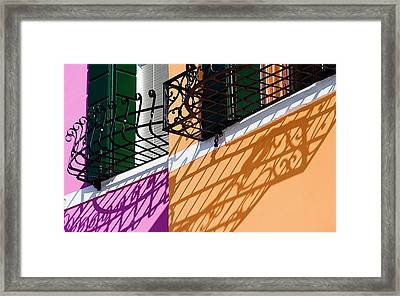 Burano Houses Framed Print