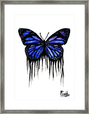Butterfly Tears Framed Print by Michael Grubb