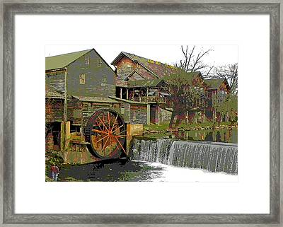 Framed Print featuring the photograph By The Old Mill Stream by Larry Bishop